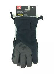 NEW Under Armour UA Mountain Gloves Storm Waterproof Coldgear Black Mens Size M $49.99