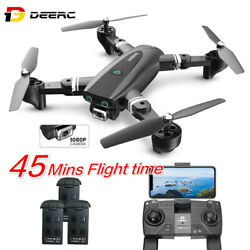 DEERC S167 GPS Drone with 1080P HD Camera Foldable 2.4Ghz RC Quadcopter FPV GPS $105.99