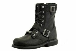 Harley Davidson Men#x27;s Ranger Black Motorcycle Boots Shoes D95264 Free Shipping $112.00