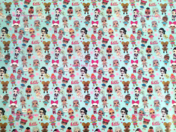 LOL Surprise Dolls Christmas Party Supply Gift Wrapping Paper Roll 12.5 SQ. FT. $5.99