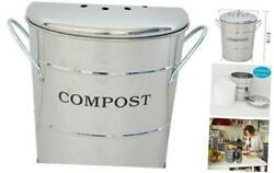 Stainless Steel Compost Bin for Kitchen1.3 Gallon Compost Kitchen Pail Inclu $34.92