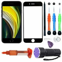 For Apple iPhone SE 2020 Front Outer Screen Replacement Glass Lens Tool Kit Glue $13.49