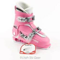 Roces Idea Up Adjustable Ski Boots – Deep Pink White – Size 19.0 to 22.0 $110.25