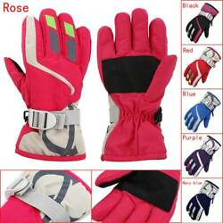 Outdoors Ski Gloves Kids Children Winter Warm Snowboard Full Finger Mittens #WL $6.05