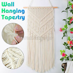 Macrame Handwoven Bohemian Cotton Rope Tapestry Home Wall Hanging Art Decor $14.00