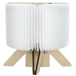Wooden Paper LED Folding Book Lamp USB Rechargeable Reading Lights Practical $30.02