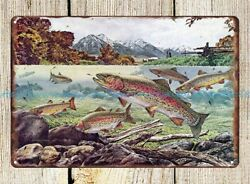 rustic decor Trout Magazine American Museum Of Fly Fishing metal tin sign $16.88