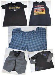 5 pc Lot BOYS Size 10 12 Clothing Vest Pajama Bottoms Muscle Shirt $15.50