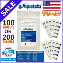 Survival #1 Water Purification Tablets Aquatabs Easy Purify and Cleaning Water $14.48