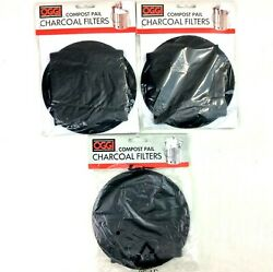 OGGI Compost Pail Charcoal Filters 7320 5427 5448 QTY 3 2 Filters in Each Set $9.97