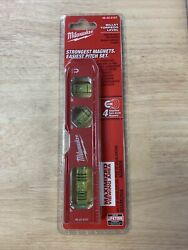 Milwaukee 48 22 5107 Compact Billet Torpedo Level AMPLIFIED RARE EARTH MAGNETS $26.00
