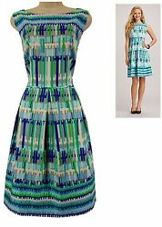 18W 2X SEXY Womens LINE PRINT FIT amp; FLARE SUMMER DRESS Wedding Party PLUS SIZE $49.99