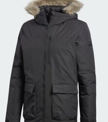 Adidas Womens XPLORIC Parka Coat Small Outdoor Lengend Earth Original Packing $99.20
