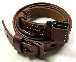 WWII GERMAN K98 98K RIFLE LEATHER RIFLE CARRY SLING BROWN $16.76