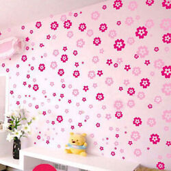 Two color flowers Self Wall Stickers Room Kindergarden 3D Decor $6.24
