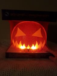 Flaming PUMPKIN Lantern LED Battery Operated 8.85 in New Halloween Lighted Decor $34.95