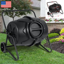 Garden Compost Bin 50 Gallon Outdoor Tumbler Composting Large Kitchen Waste Iron $184.95