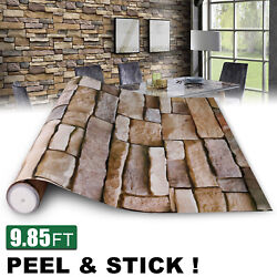 3D Stone Wallpaper Rock Self Adhesive Contact Paper Peel and Stick Backsplash US $12.92