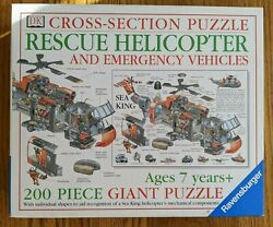 RARE Ravensburger 200 Piece CROSS SECTION Jigsaw Puzzle Helicopter Complete $14.99