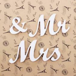 Mr amp; Mrs Letters Wooden Standing Top Table Wedding Sign Decoration Party New $5.75