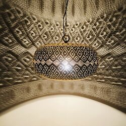 Moroccan Pendant Light Hanging Lamp Lampshades Lighting Brass Finish Color Gold $249.00