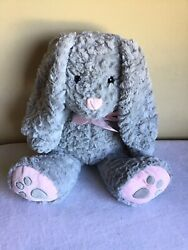 Dan Dee Collectors Choice Easter Floppy Ear Gray Pink Bunny Rabbit Plush 13quot;H $14.99