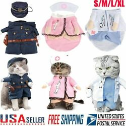 Pet Small Dog Cat Costume Police Doct Outfit Jumpsuit Clothes Christmas Cosplay $9.99