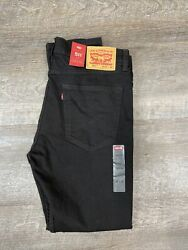 Levis 511 Slim Fit Stretch Jeans For Men#x27;s 35x30 Black Denim Cotton Blend $47.50