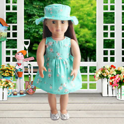 Summer Floral Dress Party For 18 Inch Girl Doll Clothes Accessory Gifts HOT $3.68