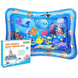 Bright One Tummy Time Water Play Mat Inflatable Play Mat for Infants 3 6 9 Mon $15.99