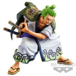 Banpresto One Piece King of Artist Anime Figure Wanokuni Roronoa Zoro BP16526 $27.99