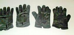 2 Pairs Men#x27;s Black Leather Driving Gloves $20.00