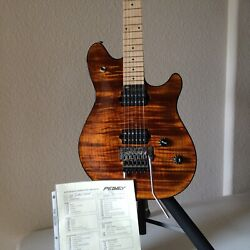 PEAVEY WOLFGANG quot;Custom Deluxequot; TIGER EYE FLAME TOP Guitar unboxed 04#x27; EVH $15999.00