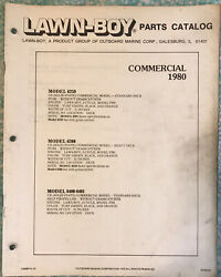 1980 LAWN BOY PARTS CATALOG COMMERCIAL PUSH MOWERS SELF PROPELLED MOWERS