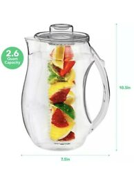 Vermi Fruit Infused Water Pitcher 2.5 Liter RED BPA Free NEW Free Ship $20.99
