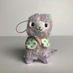 AMUSE Good Night Alpacasso Purple Girl 8cm PJ Arpakasso Alpaca Plush Japan NWT $8.00