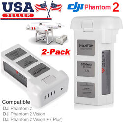 2x 5200mAh 11.1V Battery For DJI Phantom 2 Vision Plus Drone Quadcopter Flight $106.99