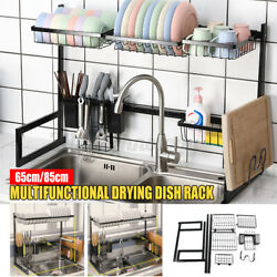 Upgrade Stainless Steel Over The Sink Drying Dish Rack Kitchen Holder Organizer $58.62