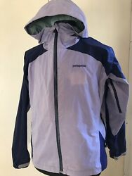 Patagonia Jacket Wind Rain Torrentshell Hooded Women's Large Purple Lavender $25.00