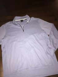 Dunning Light Purple Lavender 1 4 Zip Golf Sweater Mens Large $24.00