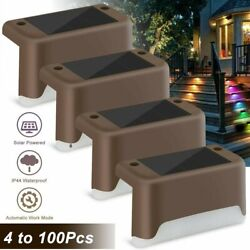 Outdoor Solar LED Deck Lights Path Garden Patio Pathway Stairs Step Fence Lamp $19.99
