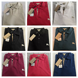 Burberry Men#x27;s Short Sleeve Nova Check Placket Polo Shirt S M L XL XXL 3XL $77.00