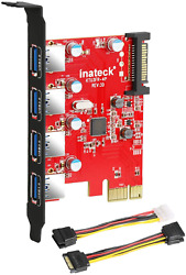 Inateck Pci E To Usb 3.0 4 Ports Pci Express Card And 15 Pin Power Connector $28.99