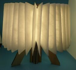 Wooden Book Shaped Paper LED Folding Lamp USB Rechargeable Warm bright light $24.99