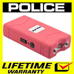 POLICE Stun Gun Mini PINK 800 380 BV Rechargeable With LED Flashlight $8.65