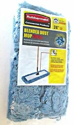 Rubbermaid Commercial Products blended dust mop refill 24quot; 086876222067 new