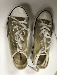 Converse All Star Youth Size 2 Clear $6.99
