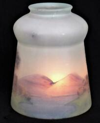 Antique Bridge Lamp Sconce Reverse Painted Satin Finish Glass Shade 21 4 Fitter $19.99