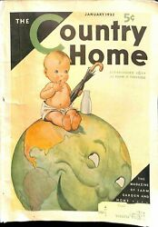 Country Home January 1932 $13.13