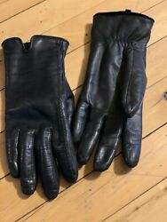 Fownes Brothers Size Large Black Leather Driving Gloves $20.00